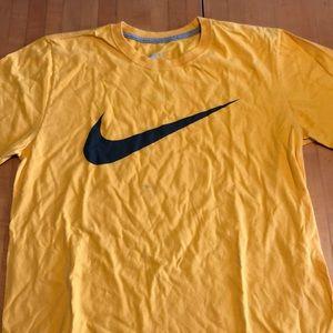 Yellow Nike swoosh T-shirt